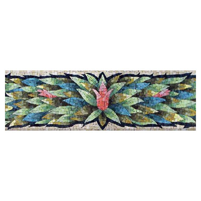 Daltile Glass Mosaic 8 Floral Bouquet