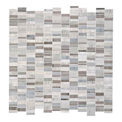 Daltile Limestone Mosaics Unique Shapes Chenille White