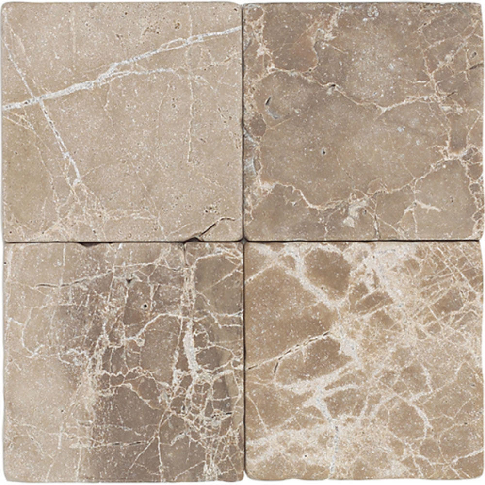 Daltile Marble 12 x 12 Tumbled Emperador Light