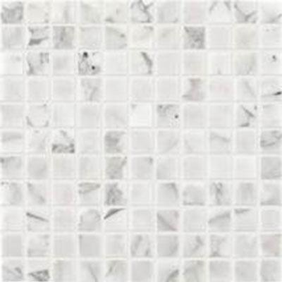 Daltile Marble 1 X 1 Mosaic Honed Venetian Calacatta Honed