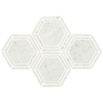 Daltile Marble 6 Hex Mosaic Carrara White