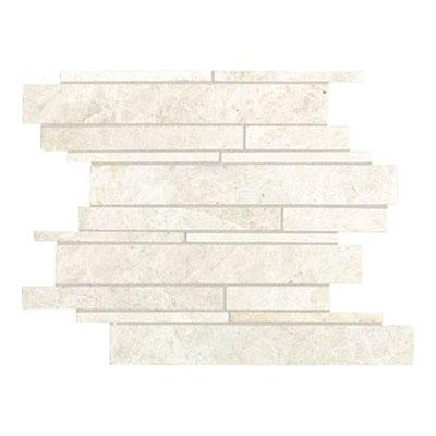 Daltile Marble Random Linear Mosaic White Cliff