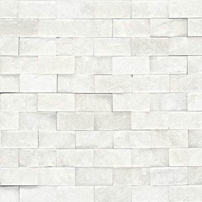 Daltile Marble Split Face Mosaic First Snow Elegance