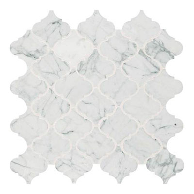 Daltile Marble Mosaics Unique Shapes Carrara White