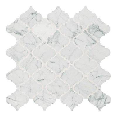Daltile Marble Mosaics Unique Shapes Carrara White