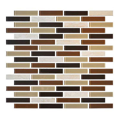 Daltile Mosaic Traditions 5/8 x 3 Brick Joint Mosaic Desert Dune