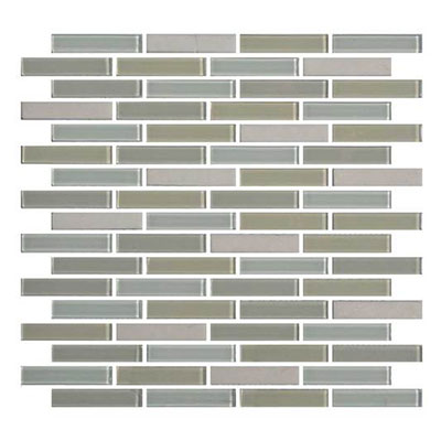 Daltile Mosaic Traditions 5/8 x 3 Brick Joint Mosaic Oasis