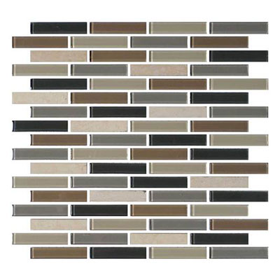 Daltile Mosaic Traditions 5/8 x 3 Brick Joint Mosaic Skyline