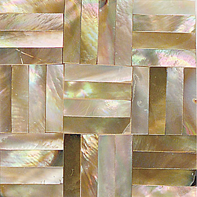 Daltile Ocean Jewels Basketweave Brown Lip