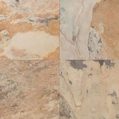 Daltile Slate Collection - Tumbled 4 x 4 Autumn Mist