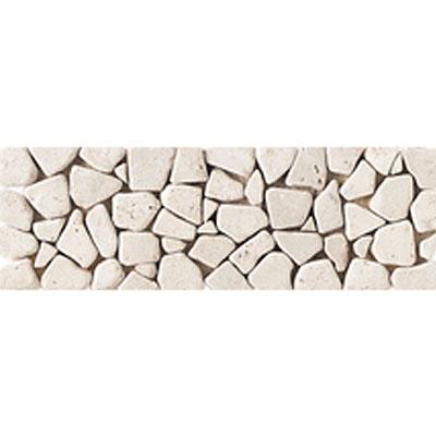 Daltile Stone Decorative Borders Baja Cream Pebble Tumbled