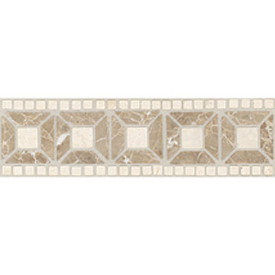 Daltile Stone Decorative Borders Emperador Light Crema