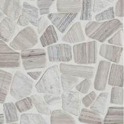 Daltile Stone Decorative Pebble Mosaics Chenille White
