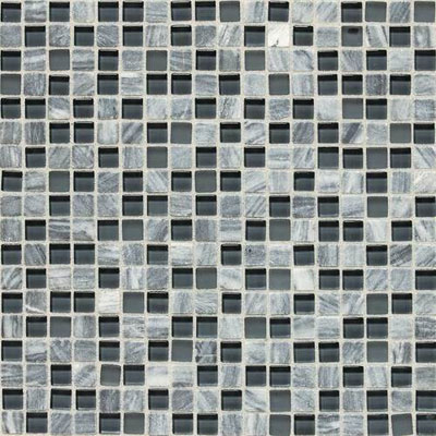 Daltile Stone Radiance Mosaic 5/8 x 5/8 Glacier Gray Marble Blend