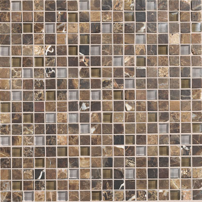 Daltile Stone Radiance Mosaic 5/8 x 5/8 Wisteria Tortoise Blend