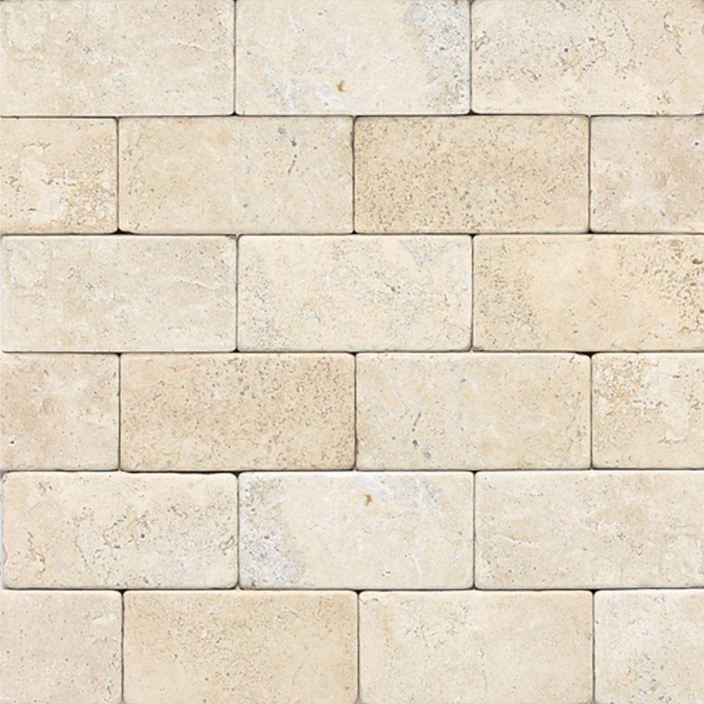 Daltile Travertine Natural Stone Tumbled 3 X 6 Tile Amp Stone Colors