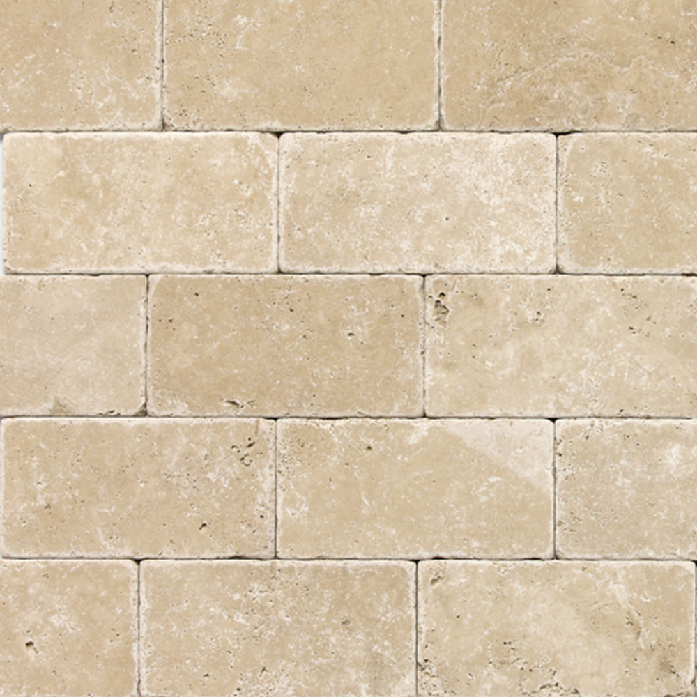 Daltile Travertine Natural Stone Tumbled 3 x 6 Tile