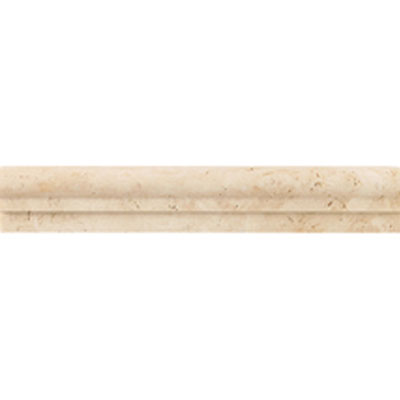 Daltile Travertine Natural Stone Honed Chair Rail Mediterranean Ivory
