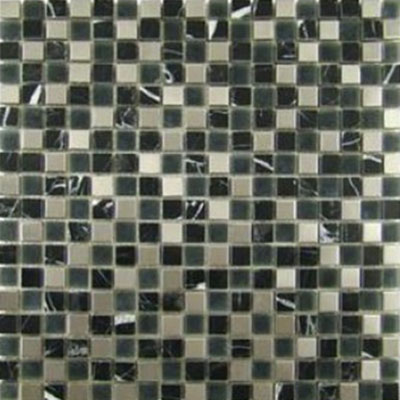 Impact 5/8 Glass & Stone & Metal Mosaic Midnight