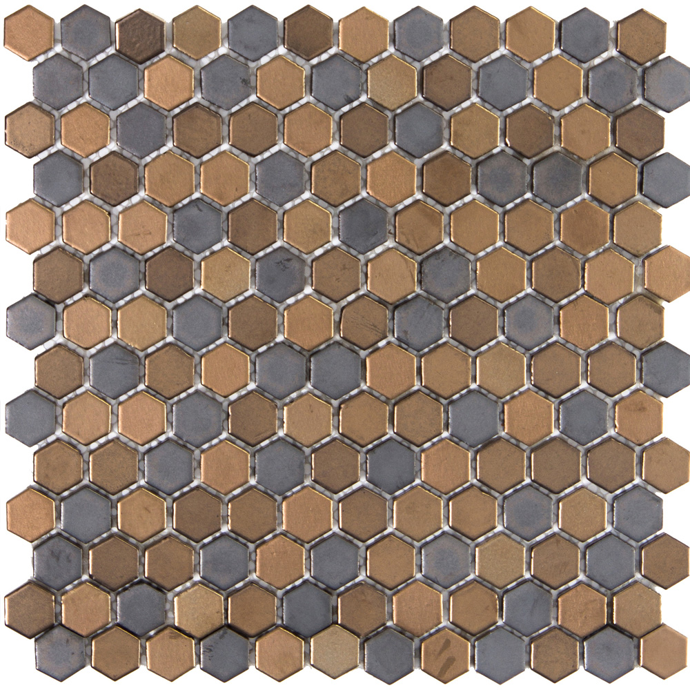 Emser Tile Confetti Hexagon Mosaic Blend Metal