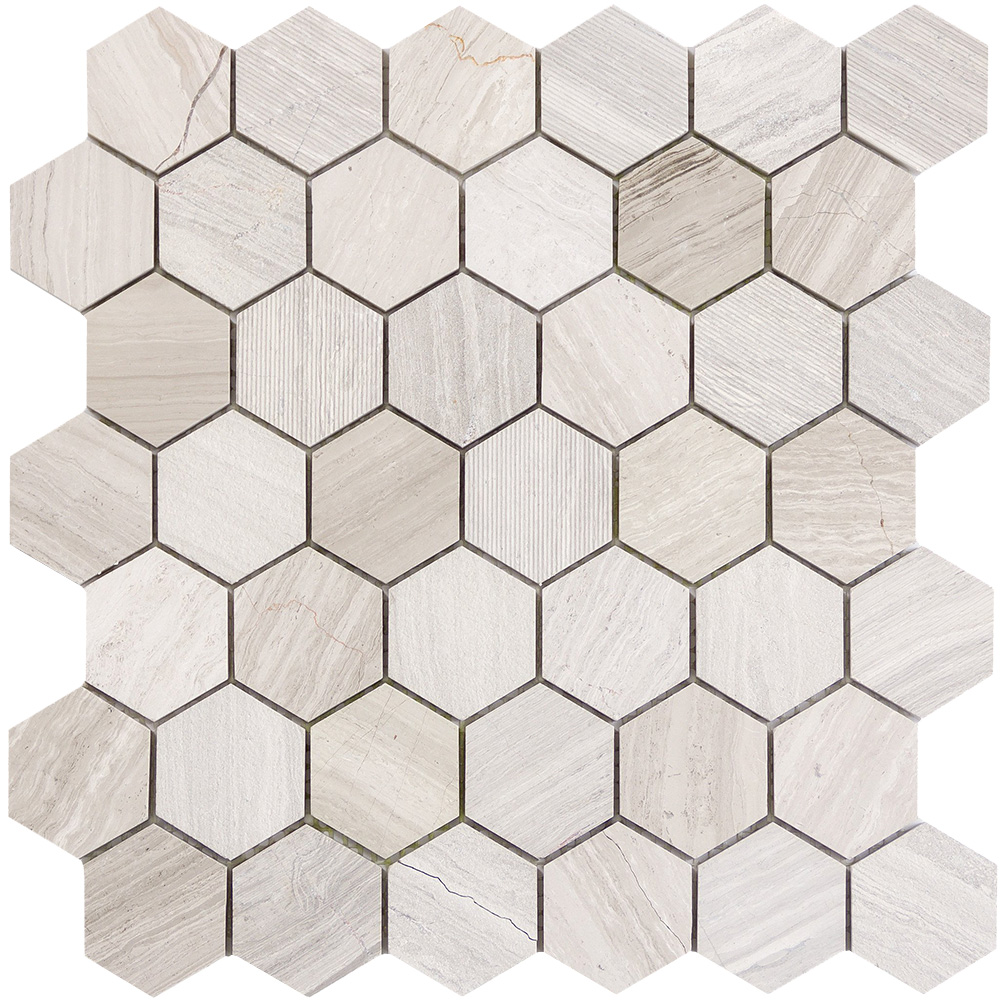 Emser Tile Metro Hexagon Mix 2 X 2 Mosaic Cream