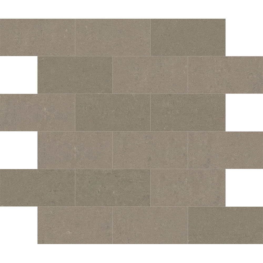 Interceramic Boardroom Bricklay Mosaic Taupe