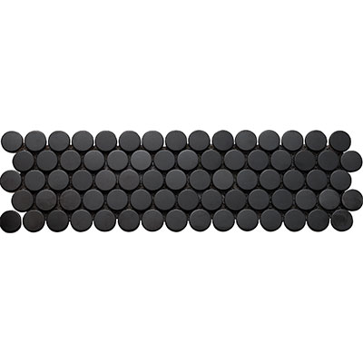 Interceramic Inox Penny Round Mosaics Black