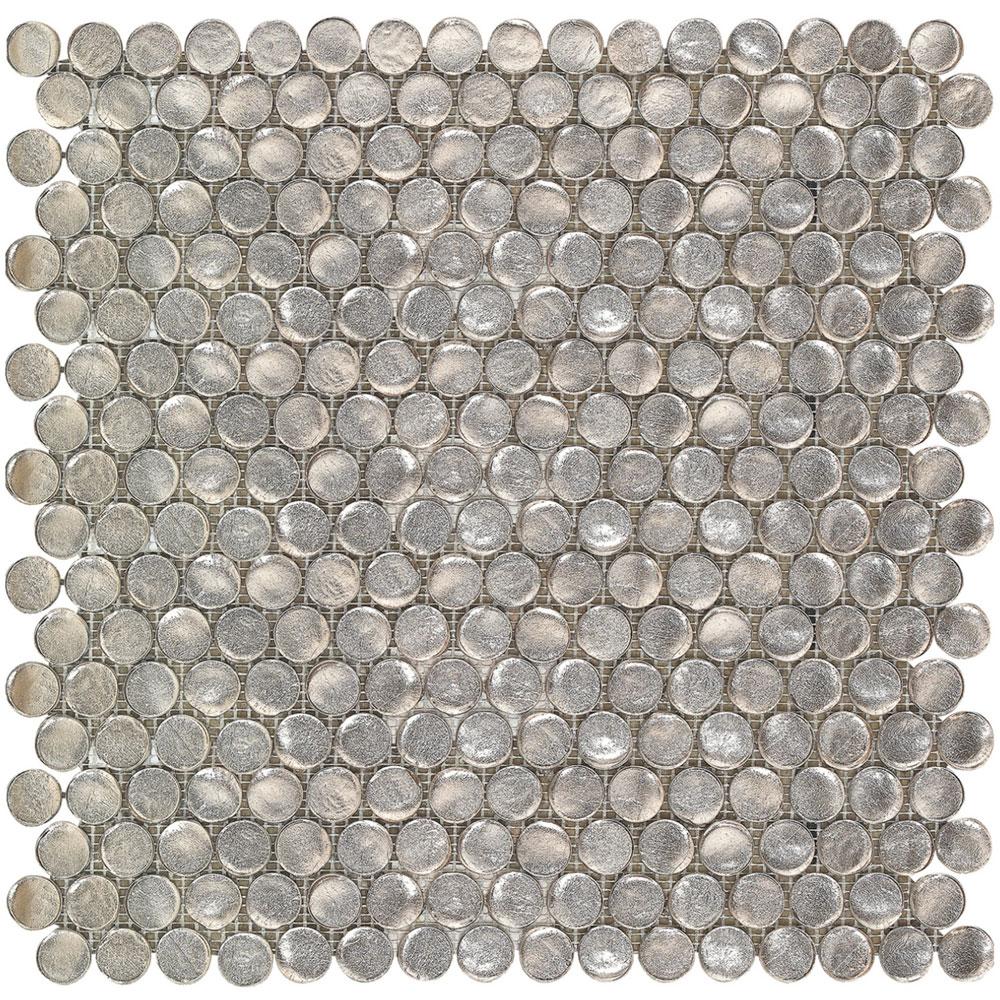 Interceramic Interglass Penny Round Mosaic Champagne