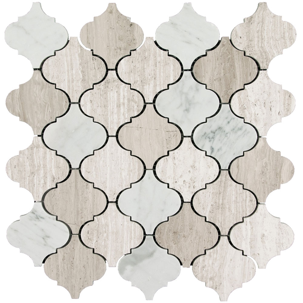 Interceramic Marble Mosaic Lantern Contemporary Blend