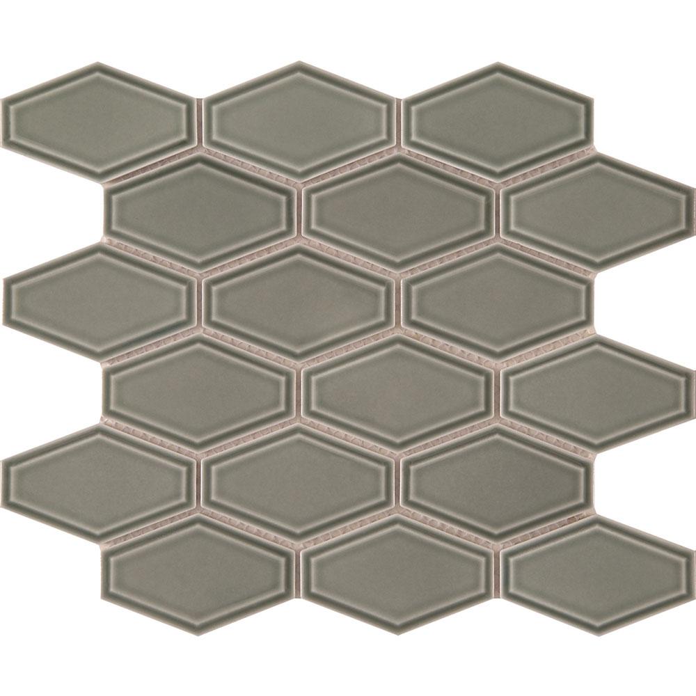 Interceramic Waterford Mosaics Long Hexagon Sage
