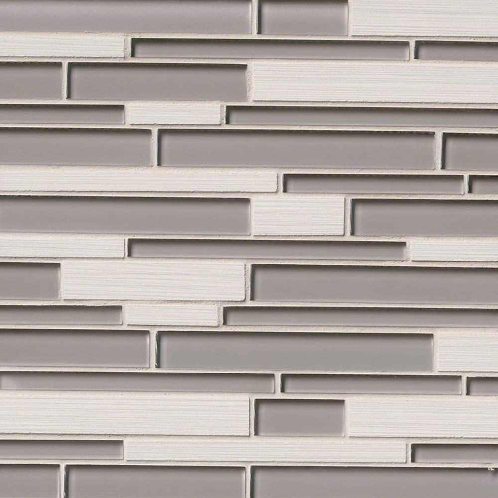 MS International Decorative Blends Mosaic Interlocking Metro Glacier