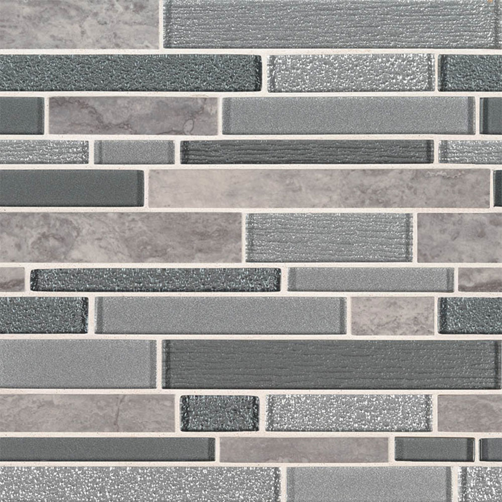 MS International Decorative Blends Mosaic Interlocking Smoky Alps