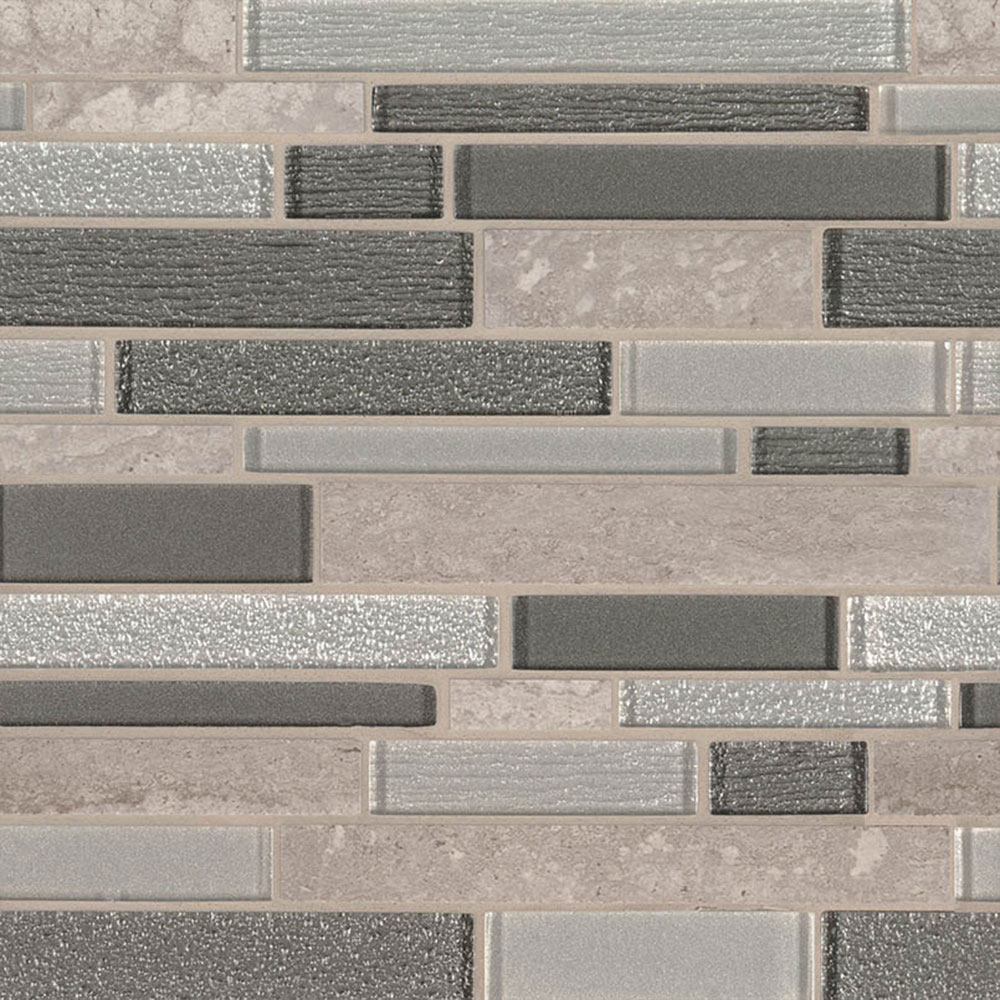 MS International Decorative Blends Mosaic Interlocking Snowmass