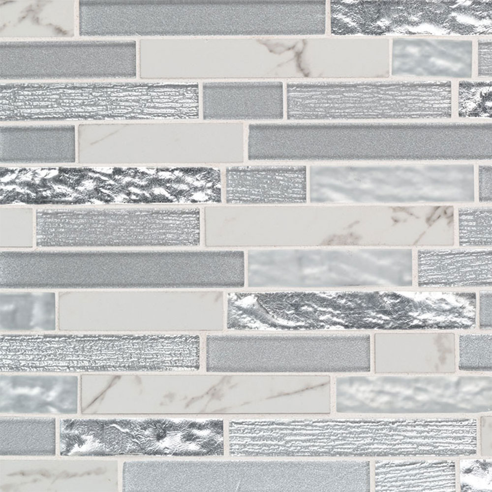 MS International Decorative Blends Mosaic Interlocking Whistler Ice