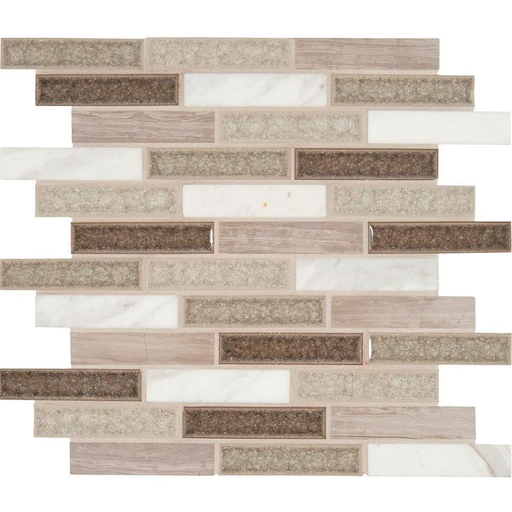 MS International Decorative Blends Mosaic 1 x 4 Crystal Cliffs