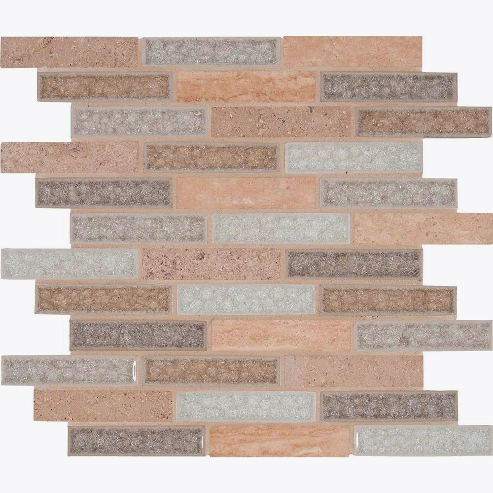 MS International Decorative Blends Mosaic 1 x 4 Crystal Vista