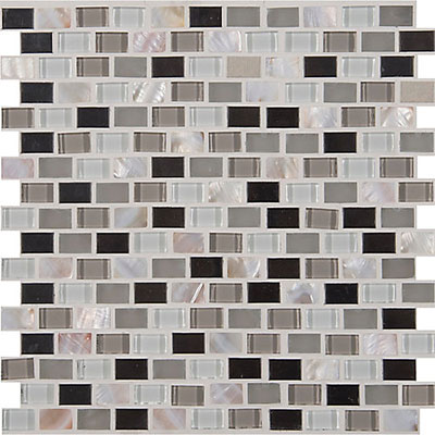 MS International Decorative Blends Mosaic Mini Brick Keshi Blend