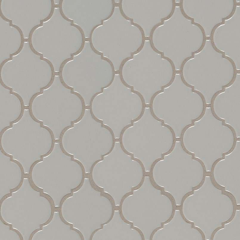 MS International Domino Arabesque Mosaics Gray