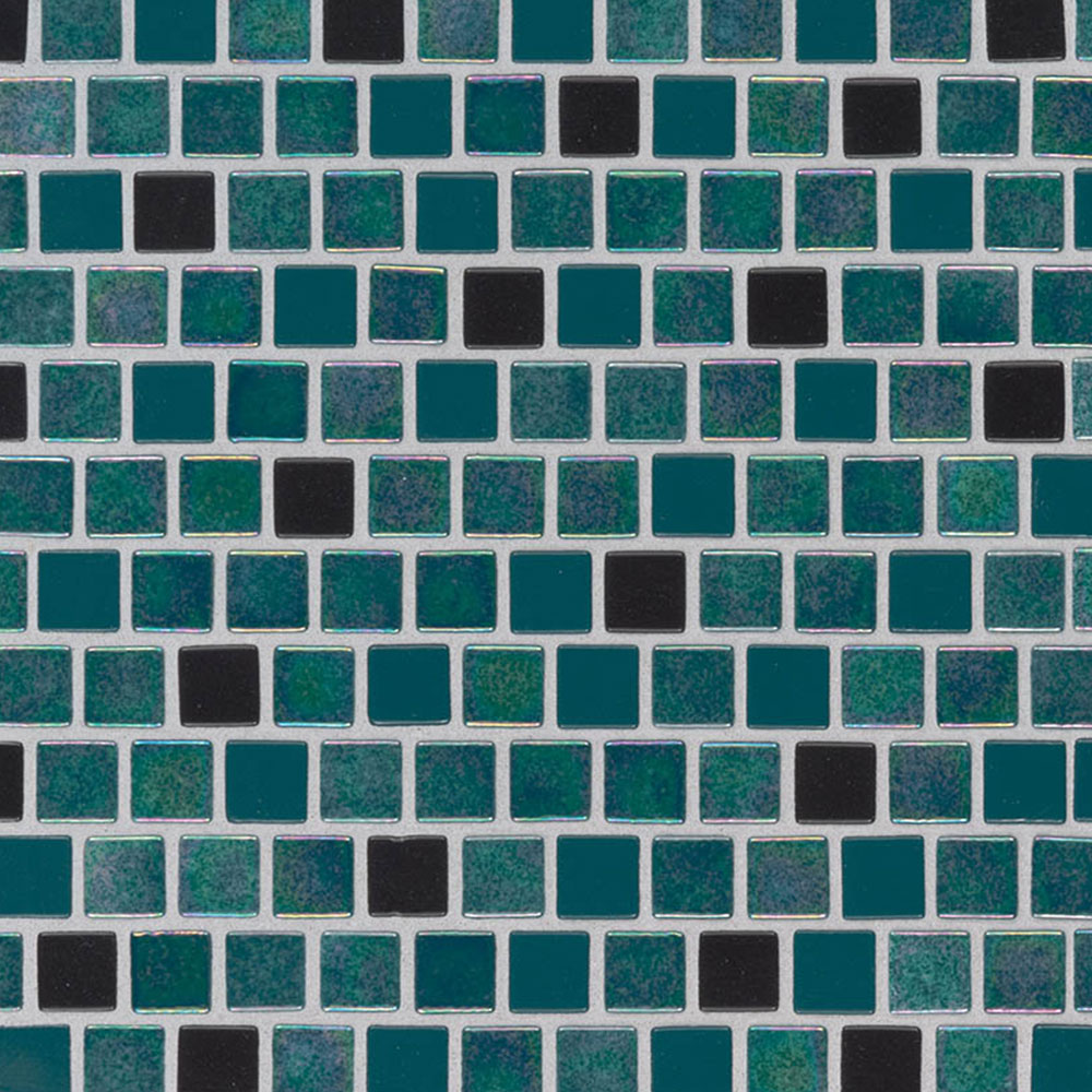 MS International Glass Mosaic 1 x 1 Staggered Carribean Mermaid