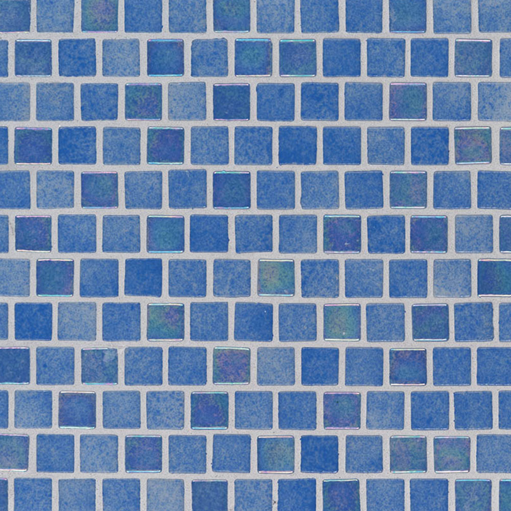 MS International Glass Mosaic 1 x 1 Staggered Hawaiian Beach
