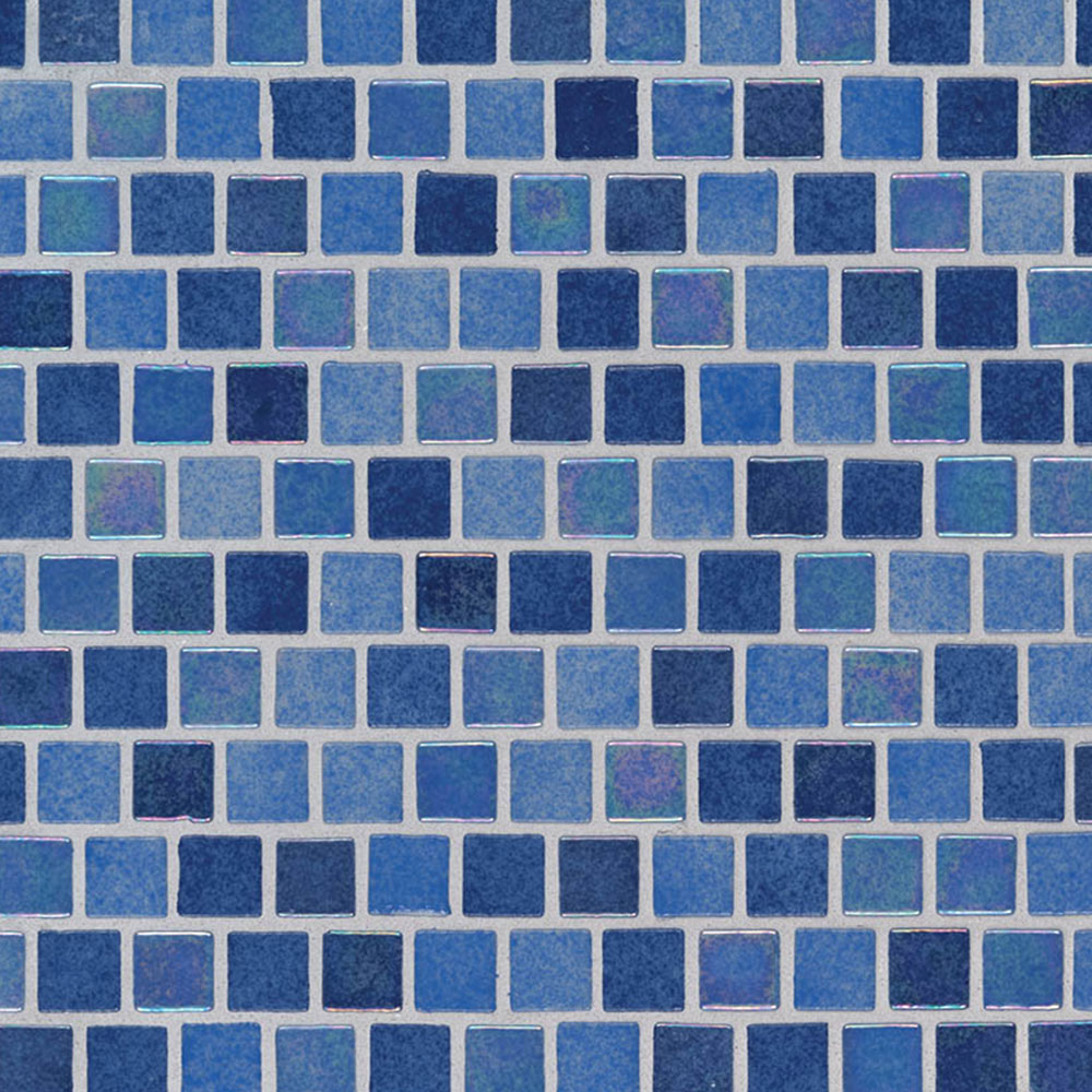 MS International Glass Mosaic 1 x 1 Staggered Hawaiian Sky