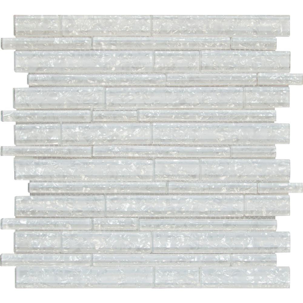 MS International Glass Mosaic Interlocking 12 x 12 Akoya