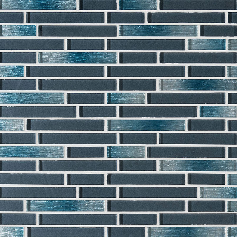 MS International Glass Mosaic Interlocking 12 x 12 Harbor Celeste