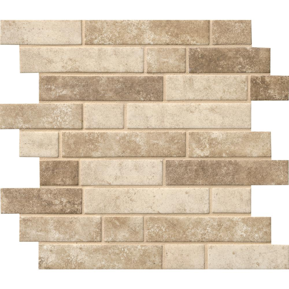 MS International Glass Mosaic Interlocking 12 x 12 Sandhills