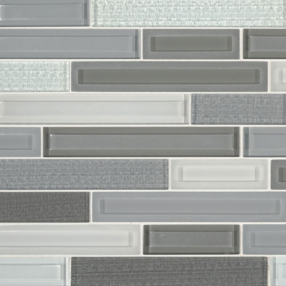 MS International Glass Mosaic Interlocking 12 x 12 Skyline Staks