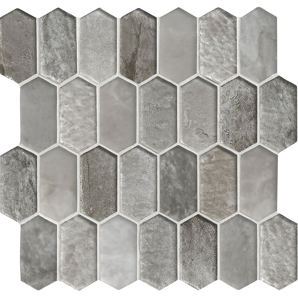 Glass Mosaic Picket Pattern Savoy