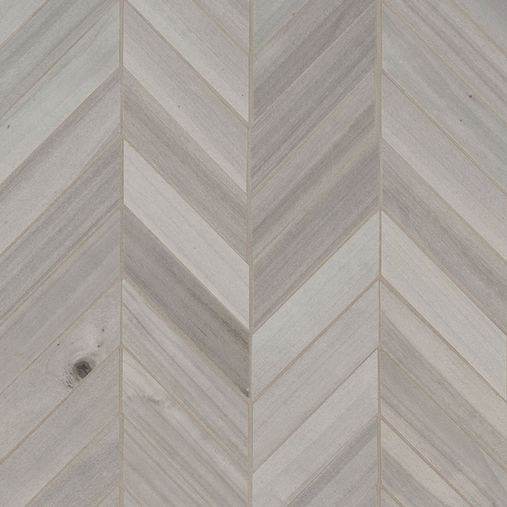 MS International Havenwood Chevron Mosaic Platinum