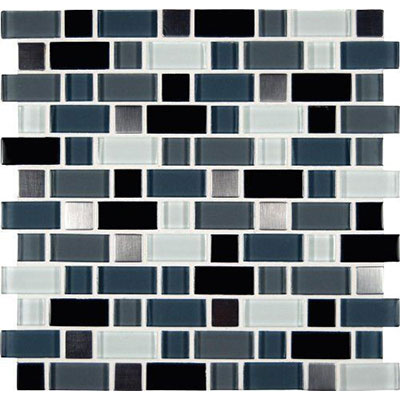 MS International Decorative Blends Mosaic Interlocking 12 x 12 Crystal Cove Blend