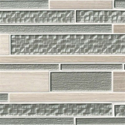 MS International Decorative Blends Mosaic Interlocking 12 x 18 Aria