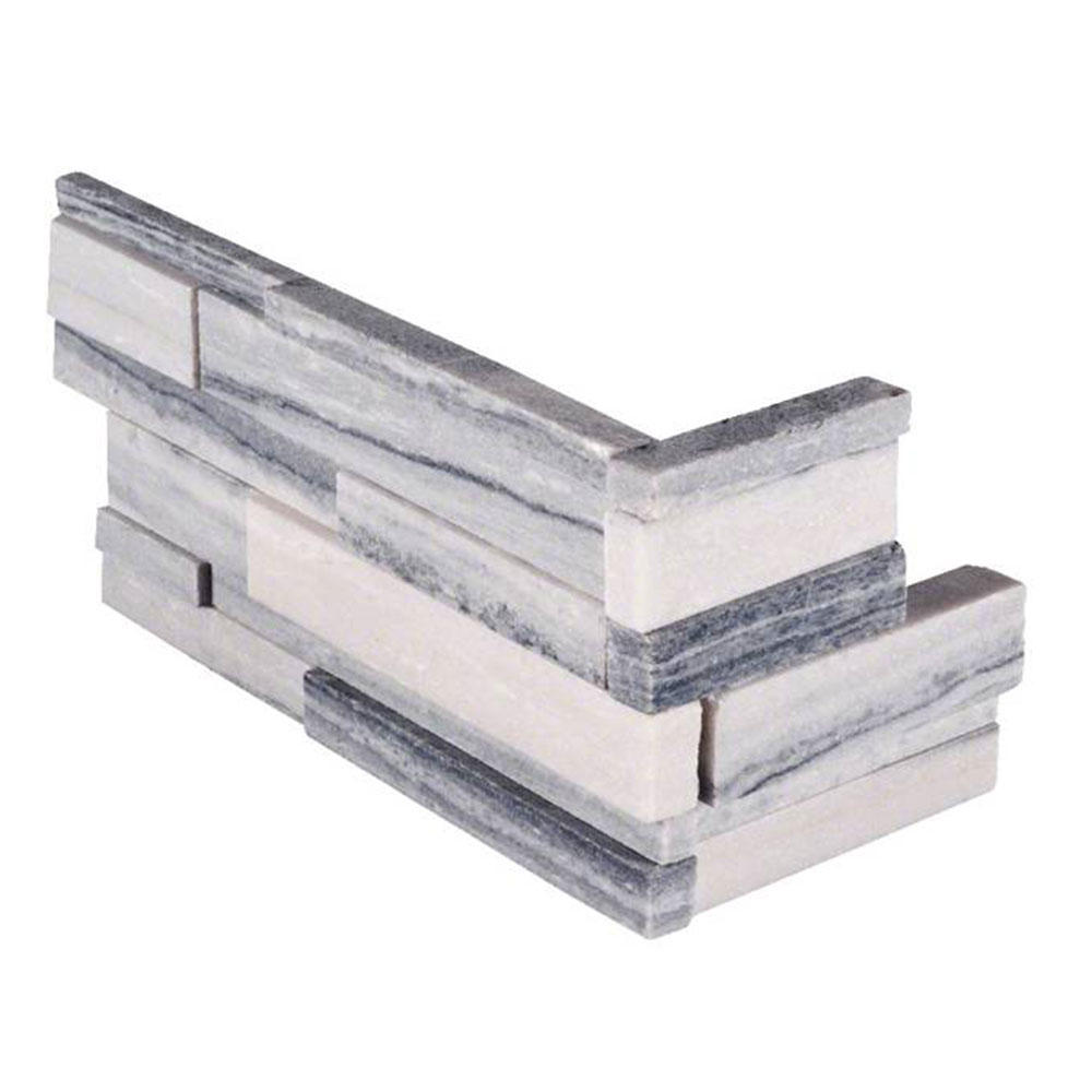 MS International RockMount Stacked Stone L Corner 3D 6 X 12 x 6 Alaska Gray